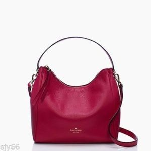 Kate Spade NWT Charles St Small Haven Dark Pink